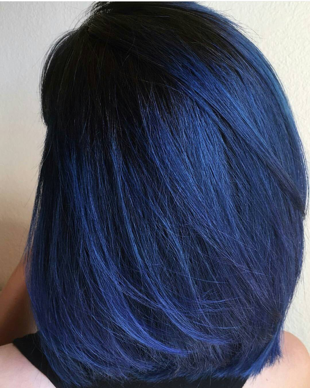 dark midnight blue hair dying to achieve the spring ready hair color try these